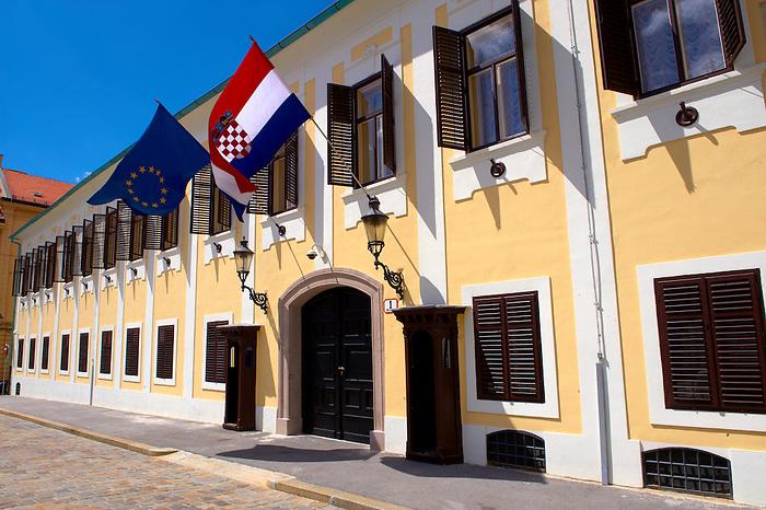 Government buildins fo Gornji Grad, St. Mark's Square, Zagreb, Croatia