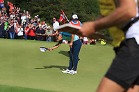 Thorbjorn Olesen (DEN) on the 16th green to a tremendous applause  during Round 4 of Made in Denmark at Himmerland Golf &amp; Spa Resort, Farso, Denmark. 27/08/2017<br /> Picture: Golffile | Thos Caffrey<br /> <br /> All photo usage must carry mandatory copyright credit     (&copy; Golffile | Thos Caffrey)
