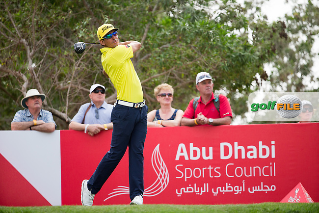 Rafa Cabrera Bello (ESP) on the 8th during the final round of the Abu Dhabi HSBC Championship, Abu Dhabi Golf Club, Abu Dhabi,  United Arab Emirates. 22/01/2017<br /> Picture: Golffile | Fran Caffrey<br /> <br /> <br /> All photo usage must carry mandatory copyright credit (&copy; Golffile | Fran Caffrey)