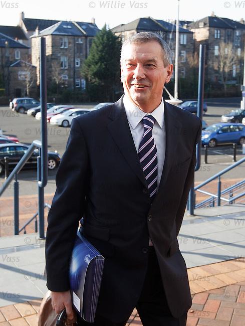 SFA President Camnpbell Ogilvie arrives at Hampden