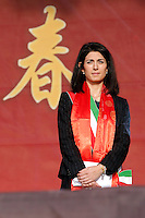 Virginia Raggi<br /> Roma 28-01-2017. Piazza del Popolo. Festeggiamenti per il Capodanno Cinese 2017, anno del Gallo.<br /> Rome January 28th 2017. Piazza del Popolo. Festivity for the Chinese New Year's Eve, Year of the Cock.<br /> Foto Samantha Zucchi Insidefoto