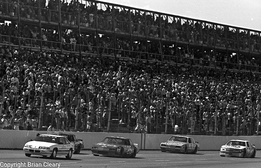 Action in the Transouth 500 at Darlington Raceway in Darlington, SC on March 20, 1988. (Photo by Brian Cleary/www.bcpix.com)