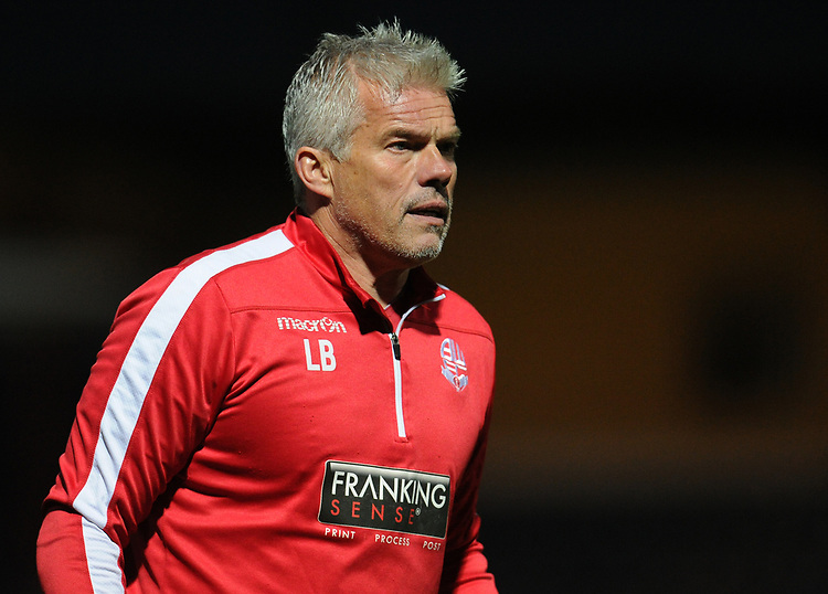 Bolton Wanderers goalkeeping coach Lee Butler<br /> <br /> Photographer Kevin Barnes/CameraSport<br /> <br /> EFL Leasing.com Trophy - Northern Section - Group F - Rochdale v Bolton Wanderers - Tuesday 1st October 2019  - University of Bolton Stadium - Bolton<br />  <br /> World Copyright © 2018 CameraSport. All rights reserved. 43 Linden Ave. Countesthorpe. Leicester. England. LE8 5PG - Tel: +44 (0) 116 277 4147 - admin@camerasport.com - www.camerasport.com