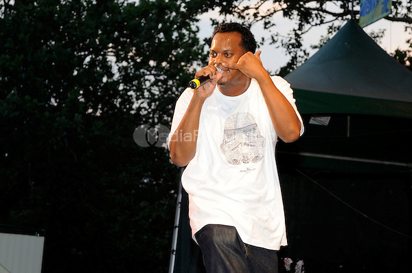 Special Ed (born Edward Archer) performing live at the Video Music Box 25th Anniversary Concert at Central Park Summerstage in New York City on July 18, 2008. © David Atlas / MediaPunch