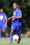 04 September 2011: SMU's TJ Nelson. The Southern Methodist University Mustangs defeated the Duke University Blue Devils 1-0 in overtime at Koskinen Stadium in Durham, North Carolina in an NCAA Division I Men's Soccer game.