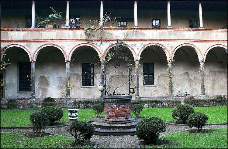 Italia, Milano, Chiostro delle Umiliate in via Cappuccio..© Andrea Pagliarulo