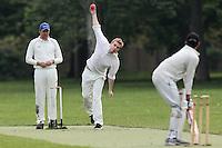 The Pumas CC (fielding) vs Martians CC - Victoria Park Community Cricket League at Victoria Park, London - 21/05/12 - MANDATORY CREDIT: Gavin Ellis/TGSPHOTO - Self billing applies where appropriate - 0845 094 6026 - contact@tgsphoto.co.uk - NO UNPAID USE.
