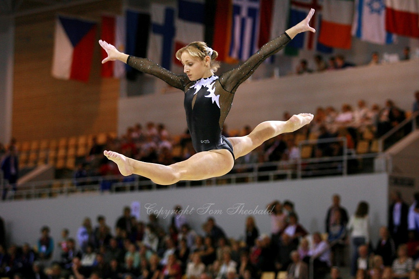 Oct 17 2006 Aarhus Denmark Irina Krasnianska Of Ukraine Performs Split Leap