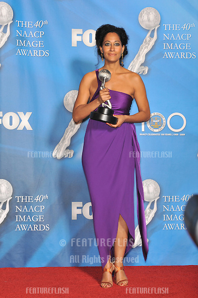 Tracee Ellis Ross at the 40th Annual NAACP Image Awards at the Shrine Auditorium, Los Angeles..February 12, 2009  Los Angeles, CA.Picture: Paul Smith / Featureflash