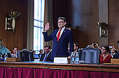 Former Governor Rick Perry (Republican of Texas) is sworn-in to appear before the US Senate Committee on Energy and Natural Resources considering his nomination to be Secretary of Energy on Capitol Hill in Washington, DC on Thursday, January 19, 2017.<br /> Credit: Ron Sachs / CNP