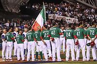 Mexico Team. Equipo de Mexico.<br /> Edgar Gonzalez, Jesus Quiroz (17), Alex <br /> Verdugo (27),  Brandon Laird (5), Adrian Gonzalez (23), Japhet Amador (42), Efren Navarro (24), Luis Cruz (47), Sebastian Elizalde (20),  Carlos Torres  (70)<br /> <br /> Aspectos del partido Mexico vs Italia, durante Cl&aacute;sico Mundial de Beisbol en el Estadio de Charros de Jalisco.<br /> Guadalajara Jalisco a 9 Marzo 2017 <br /> Luis Gutierrez/NortePhoto.com