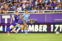 Orlando, FL - Saturday September 10, 2016: Josee Belanger, Tasha Kai during a regular season National Women's Soccer League (NWSL) match between the Orlando Pride and Sky Blue FC at Camping World Stadium.