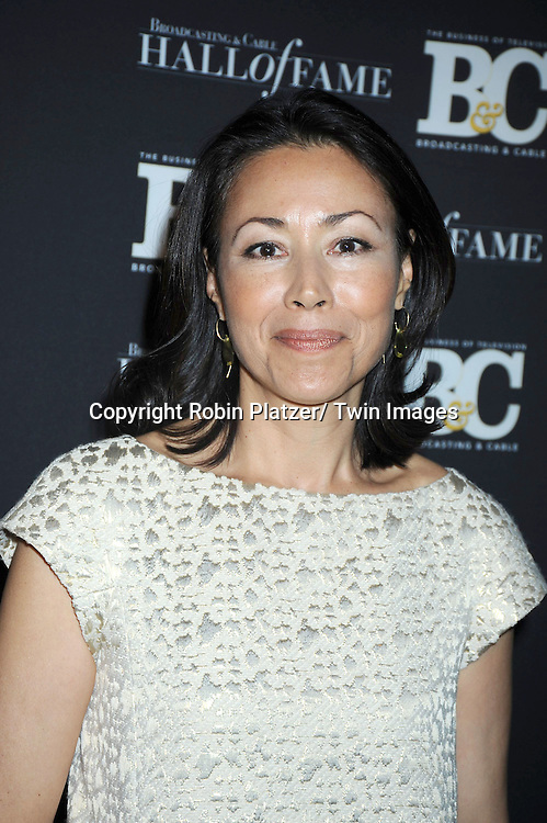 Ann Curry attending the 20th Annual  Broadcasting & Cable Hall of Fame Awards on October 27, 2010 at The Waldorf Astoria Hotel in New York City.