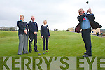 Ned O'Callaghan (Captain) Castleisland Captain tees off at the Captain's drive in Castleisland Golf Club last Sunday morning l-r Leila Moloney (Lady Captain), Con Daly (President) and Betty McCarthy (Lady President).   Copyright Kerry's Eye 2008