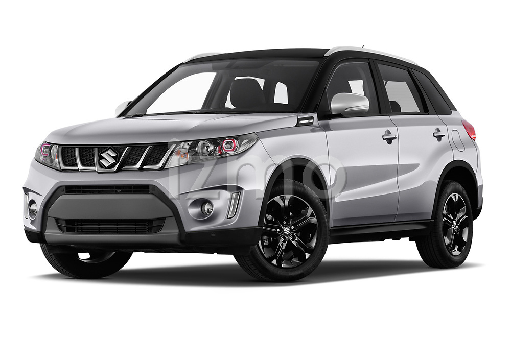 Stock pictures of low aggressive front three quarter view of a 2018 Suzuki Vitara GLX  S 5 Door SUV