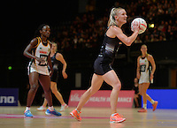 05.02.2017 Silver Ferns Shannon Francois in action during the Silver Ferns v Proteas netball test match played at Wembley Arena  in London, England. Mandatory Photo Credit ©Joe Toth/Michael Bradley Photography