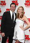 Jon Hamm & Jennifer Westfeldt.attending the Broadway Opening Night Performance of 'Nice Work If You Can Get it' at the Imperial Theatre on 4/24/2012 at the Imperial Theatre in New York City. © Walter McBride/WM Photography .