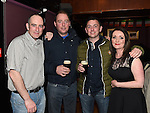 Paul McGovern and his wife Karen with Robert and Frankie Saul in Shearman's Bar. Photo:Colin Bell/pressphotos.ie