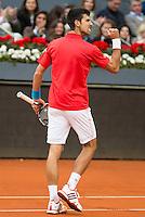 Serbian Novak Djokovic during  TPA Finals Mutua Madrid Open Tennis 2016 in Madrid, May 08, 2016. (ALTERPHOTOS/BorjaB.Hojas) /NortePhoto.com