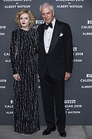 "Marco Tronchetti Provera (Pirelli's President) Julia Garner attend the gala night for official presentation of the Presentation of the Pirelli Calendar 2019 ""The cal"" held at the Hangar Bicocca. Milan (Italy) on december 5, 2018. Credit: Action Press/MediaPunch ***FOR USA ONLY***"