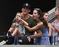 FLUSHING NY- SEPTEMBER 10: Conor Dwyer is sighted watching Angelique Kerber Vs Karolina Pliskova during the womens finals on Arthur Ashe Stadium at the USTA Billie Jean King National Tennis Center on September 10, 2016 in Flushing Queens. Credit: mpi04/MediaPunch