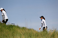 Hazel MacGarvie (SCO) and Lily May Humphreys (ENG)  during the final round at the Irish Woman's Open Stroke Play Championship, Co. Louth Golf Club, Louth, Ireland. 12/05/2019.<br /> Picture Fran Caffrey / Golffile.ie<br /> <br /> All photo usage must carry mandatory copyright credit (&copy; Golffile | Fran Caffrey)