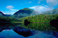 Mountain view from Anna Inlet, British Columbia, Canada