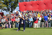 Matt Kuchar US Team tees off the 11th tee during Thursday's Practice Day of the 41st RyderCup held at Hazeltine National Golf Club, Chaska, Minnesota, USA. 29th September 2016.<br /> Picture: Eoin Clarke | Golffile<br /> <br /> <br /> All photos usage must carry mandatory copyright credit (&copy; Golffile | Eoin Clarke)