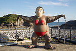 Pier monkey attraction, Mumbles, Gower peninsula, near Swansea, South Wales, UK