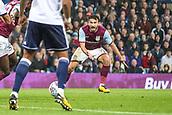 12th September 2017, Villa Park, Birmingham, England; EFL Championship football, Aston Villa versus Middlesbrough; Robert Snodgrass of Aston Villa shouting for the ball