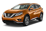 2015 Nissan Murano Platinum 5 Door SUV Angular Front stock photos of front three quarter view