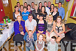 Marguerite Crowley, Drombrick, Beaufort, pictureed with her parents Donal and Mary, sister Dannielle, brother Conor, family and friends as she celebrated her 21st birthday at home on Saturday night.