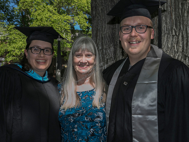 Lauren Rachal, Michelle Rachal and Devon Trube during the University of Nevada College of Agriculture, Biotechnology & Natural Resources and College of Education graduation ceremony on Friday evening, May 19, 2017.