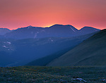Forest Canyon, alpine tundra, sunset, Rocky Mountain National Park, Colorado