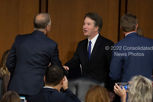 Judge Brett Kavanaugh arrives prior to a hearing before the United States Senate Judiciary Committee on his nomination as Associate Justice of the US Supreme Court to replace the retiring Justice Anthony Kennedy on Capitol Hill in Washington, DC on Tuesday, September 4, 2018.Credit: Alex Edelman / CNP