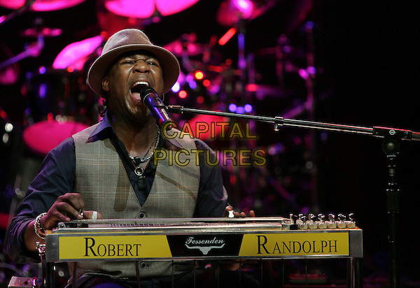 ROBERT RANDOLPH.at The Sennheiser Appreciation Party held at HOB Anaheim in Anaheim, California, USA, January 19th 2007..Half length concert gig music on stage performing keyboard hat.CAP/DVS.©Debbie VanStory/Capital Pictures