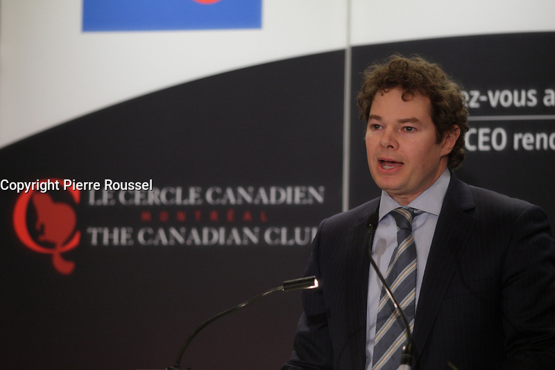 March 17, 2014 - Louis Morisset, President &amp; CEO of AMF ( Autorite des marches financiers), delivers a speech to the Canadian Club of Montreal <br /> <br /> Photo : Pierre Roussel