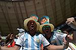 Argentina fans (ARG), JULY 5, 2014 - Football / Soccer : FIFA World Cup Brazil 2014 Quarter-finals match between Argentina 1-0 Belgium at Estadio Nacional in Brasilia, Brazil. (Photo by FAR EAST PRESS/AFLO)