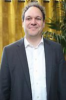 STEPHAN WRAGE, PRESIDENT DE SKYSAILS, PRESENTATION DU PREMIER NAVIRE A PROPULSION HYBRIDE SOLAIRE-HYDROGENE POUR COMBATTRE LA POLLUTION MARINE, PARIS, FRANCE, LE 10/03/2017.