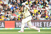 3rd December 2017, Adelaide Oval, Adelaide, Australia; The Ashes Series, Second Test, Day 2, Australia versus England; Pat Cummins of Australia hits the ball down the ground