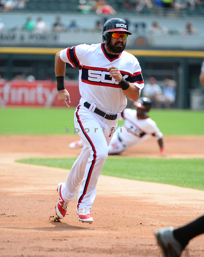 Chicago White Sox Adam Eaton (1) during a game against the Detroit Tigers on July 24, 2016 at US Cellular Field in Chicago, IL. The White Sox beat the Tigers 5-4.