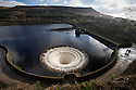 24/02/17<br /> <br /> Following heavy rain from Storm Doris, water cascades into one of two bellmouth overflows on Ladybower Reservoir near Sheffield in the Derbyshire Peak District. Known locally as 'the plugholes' the giant stone drains are 80 ft in diameter. Most of the year the top of the bellmouths are above the water level near the dam wall only allowing extra water to drain from the reservoir into the river Derwent after heavy rain. <br /> <br /> <br /> All Rights Reserved F Stop Press Ltd. (0)1773 550665 www.fstoppress.com