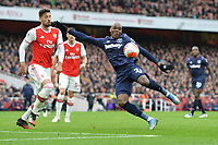 Angelo Ogbonna of West Ham United slips at the wrong time during Arsenal vs West Ham United, Premier League Football at the Emirates Stadium on 7th March 2020