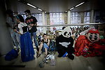 People dressed up in character costumes attend the Harucon Convention of Anime and Manga in Jerusalem, on March 12, 2017. Photo by: JINIPIX