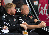 Sheffield United Sports Science manager Matt Prestridge (left) and manager Chris Wilder  <br /> <br /> Photographer David Horton/CameraSport<br /> <br /> The Premier League - Bournemouth v Sheffield United - Saturday 10th August 2019 - Vitality Stadium - Bournemouth<br /> <br /> World Copyright © 2019 CameraSport. All rights reserved. 43 Linden Ave. Countesthorpe. Leicester. England. LE8 5PG - Tel: +44 (0) 116 277 4147 - admin@camerasport.com - www.camerasport.com