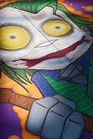Pasadena; CA; Old Town; Colorado; Boulevard; Sidewalk Painting;