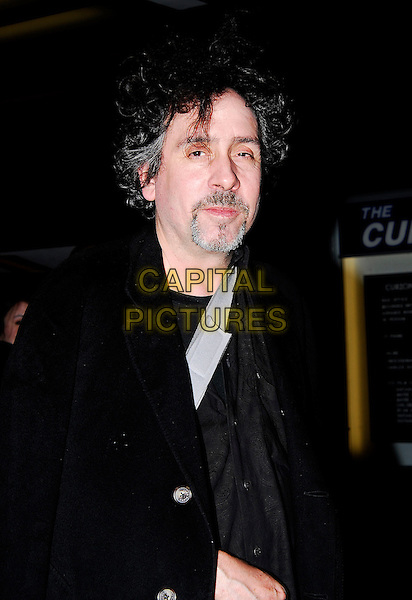 TIM BURTON.Spotted in Mayfair, London, UK..December 5th 2006.half length black coat goatee facial hair.CAP/CAN.©Can Nguyen/Capital Pictures