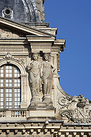 Caryatids, Pavillon Sully, built by Jacques Lemercier (1586-1654), ordered by Louis XIII in 1639, Louvre Museum, Paris, France Picture by Manuel Cohen