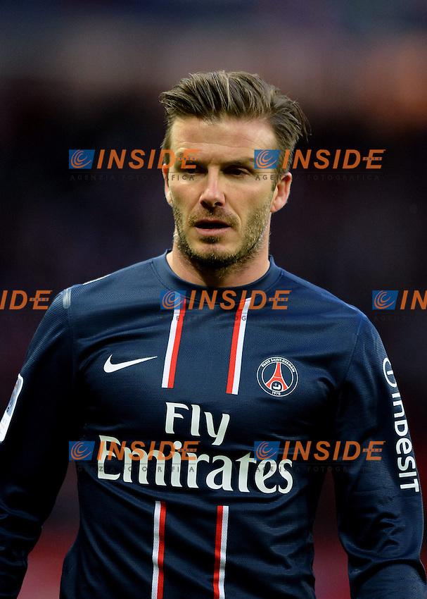 David Beckham (psg) .Parigi 9/3/2013 .Football Calcio 2012/2013 Ligue 1 Francia.Psg Vs Nancy .Foto Panoramic / Insidefoto .ITALY ONLY
