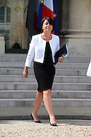 Sylvia Pinel ( Ministre de l'Artisanat, du Commerce et du Tourisme ) .Parigi 22/8/2012.Consiglio dei Ministri.Foto Insidefoto / Christian Liewig / FEP / Panoramic.ITALY ONLY